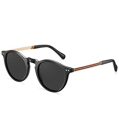 Carfia Gafas de sol retro polarizadas para mujer, con filtro de luz...