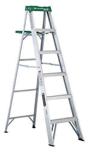 Louisville Ladder 6-Foot Aluminum Step Ladder, 225-Pound Capacity, AS4006