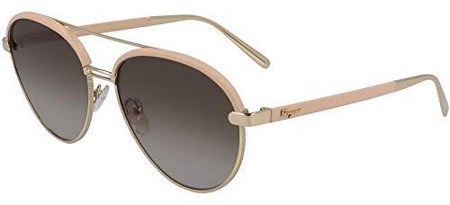 Gafas de Sol Salvatore Ferragamo SF229SL Pink/Grey Brown Shaded 59/17/145 mujer