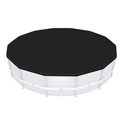 Bestway Flowclear - Telone di copertura in PVC, diametro 392 cm, per idrium piscina, 360 x 120 cm, colore: Grigio