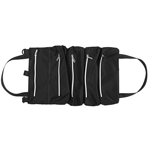 Estuche de almacenamiento en rollo, bolsa para colgar, bolsa enrollable, con cremallera resistente al uso para pillers pequeños para jardín de automóviles