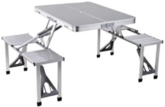 Class Four Seater Foldable Table - CLDNAL01, Silver