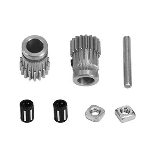 Basage Impresora 3D Mk3 Extrusora de Engranajes Impulsores Kit de Engranajes Dobles Rueda de Extrusión de Engranajes Impulsores para Actualizar la Impresora 3D Prusa I3 Mk2 Mk2S