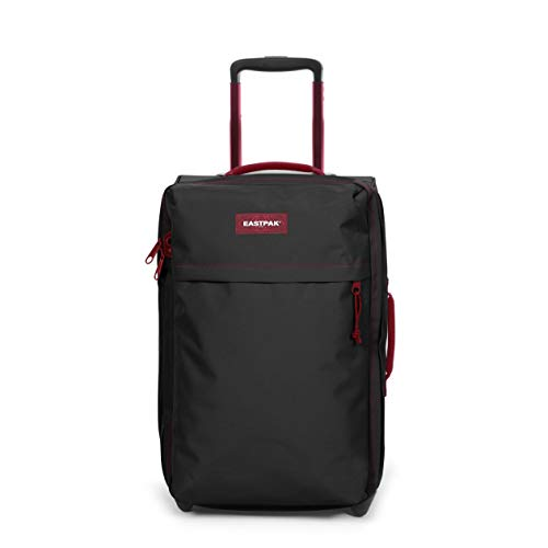 Eastpak Traf'Ik Light S Maleta, 51 cm, 33 L, Negro (Blakout Strip Red)