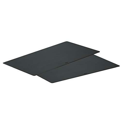 Rösle Schneidauflage 2er-Set, Hochwertige Schneideunterlagen für die Küche zum universellen Einsatz, PP Polypropylen schwarz, hygienisch, Spülmaschinengeeignet