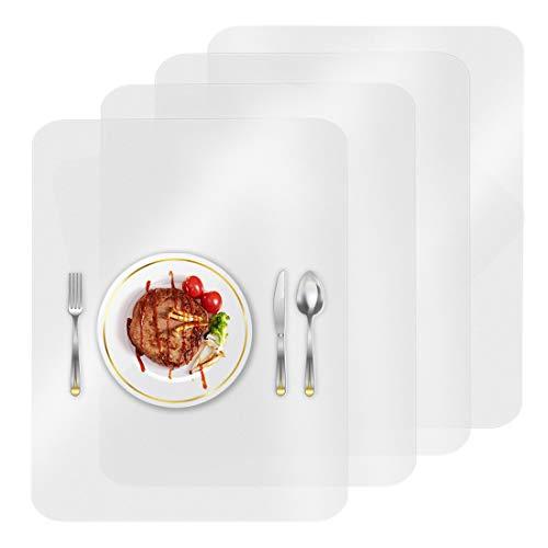O-Kinee 4 Stück Kunststoff Tischsets Tisch Matte Hitzebeständige Tischsets Essmatten für Tisch, Esszimmer, Küche (4 Stück)