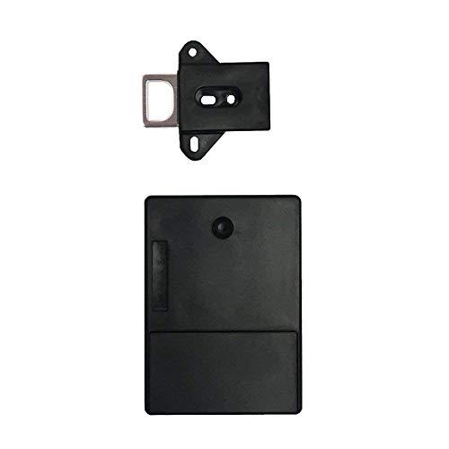 ADDFOO Negro Invisible Rfid Gratuito Para Abrir Cerradura De Gabinete De Induccion Inteligente De La Puerta Del Cajon Del Zapato Gabinete De Zapato Armario Cerradura Oscura Electronica