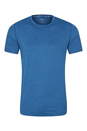Mountain Warehouse Echo Melange Herren-Recycling-T-Shirt - feuchtigkeitsregulierendes T-Shirt, schnelltrocknendes Top, UV-Schutz Max T-Shirt, atmungsaktiv Blau S