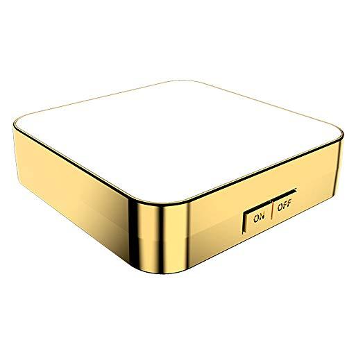 Miroir de Maquillage LED REMIGHTELY Bright, Miroir Lumineux avec loupe, Miroir Pliant Double Face, Design carré, dimmable, loupe 10x, Bagage à Main Portable (A, B) (Couleur : B)
