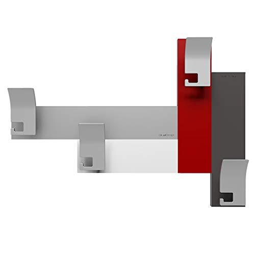 CalleaDesign - Appendiabiti da Parete 80 Rubino - Collezione Stripes