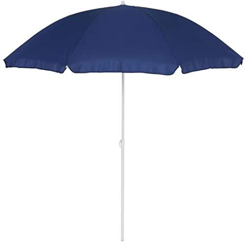 HSJ LF- Paraguas de Sol al Aire Libre Parasol 2.4m Puesto Paraguas sombrilla Publicidad Paraguas Plegable Redonda del Parasol de Playa Frio