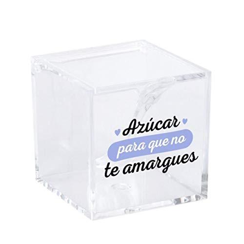 Dcasa - Azucarero de cocina original acrilico diseño frase .