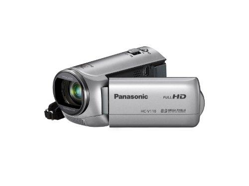 Panasonic HC-V110EG-S Videocamera, Sensore MOS 8.9 Mp, Full HD, Zoom Ottico 38x, Zoom Interno 72x, USB 2.0, Argento