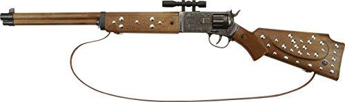 """J.G.Schrödel """"Silberbüchse antik"""": Spielzeuggewehr in Winnetou-Optik, in Box,  ideale Cowboy- und Sheriffausrüstung, für 12-Schuss-Munition, 77 cm, braun / grau (607 8028)"""