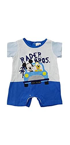 Sicem International Srl Pijama corto Mickey Mouse y pluto para niño de verano de algodón Jersey canastillo para bebé (B2WD101765 Bluette, 1-3 meses)