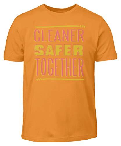 Cleaner Safer Together - Camiseta para niño naranja 98 cm/104 cm