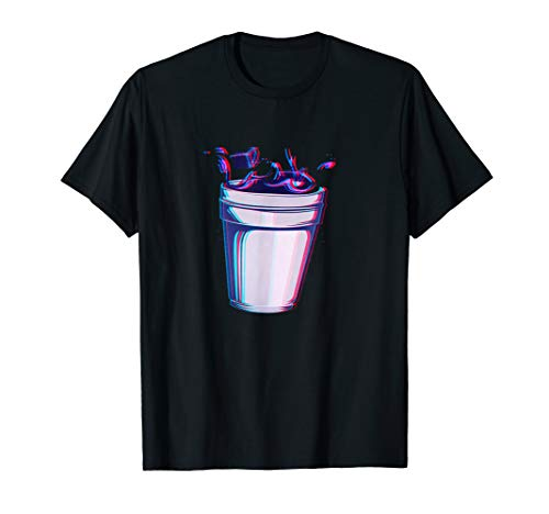 Purple Drank Codein Glitchy Hustensaft Lean Double Cup T-Shirt