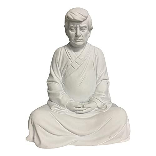 Donald Trump Resin Buddha President Statue, Handmade Model Souvenir Trump 2024 Statue for Cars, Office Desk and Home Accessories