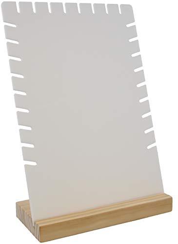 Dielay Expositor para joyas de madera y plástico, 28 x 18 x 8 cm