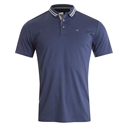 Calvin Klein Herren Madison Polo Golf-T-Shirt, Marineblau, Mittel