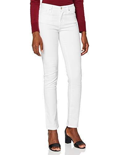Cross Jeans Damen Anya P 489-120 Slim Jeans (schmales Bein), Weiß (White 107), W31/L34 (Herstellergröße:31/34)