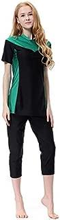 BEESCLOVER Short Sleeves Swimsuit Women Bikini Swimwear Beachwear Top + Pants + Hat