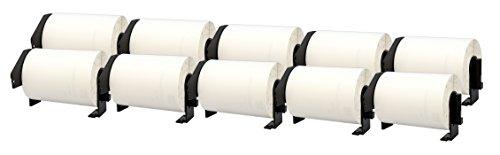 10x DK-11241 102 x 152 mm Versandetiketten (200 Stück/Rolle) kompatibel für Brother P-Touch QL-1050, QL-1050N, QL-1060N, QL-1100, QL-1110NWB Etikettendrucker