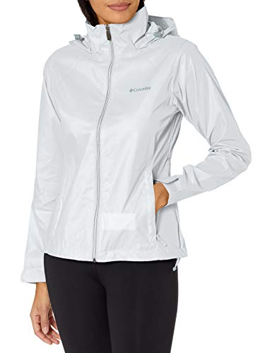Columbia Women's Switchback III Adjustable Waterproof Rain Jacket, White, Medium