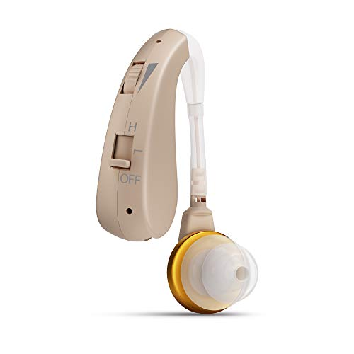 Z&T Digital Rechargeable Hearing Aid for Seniors, Personal Hearing Amplifier for Adults Fit Both Ear, Sound Enhancer with with Dynamic Compression for Noise Reduction, AC Charger Included