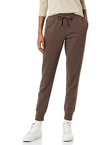 Amazon Essentials French Terry Fleece Jogger Sweatpant (Plus + Missy) Pantalones, Chocolate Heather, M