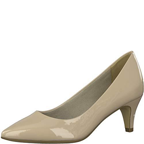Tamaris Damen Pumps 22495-34, Frauen KlassischePumps, Court-Shoes Absatzschuhe Abendschuhe stöckelschuhe Damen Lady,Nude PATENT,41 EU / 7.5 UK