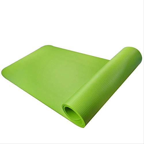 mengzhong tappetino da yoga ecologico insapore 183 * 61 ispessito NBR fitness dance mat sport mat, Verde
