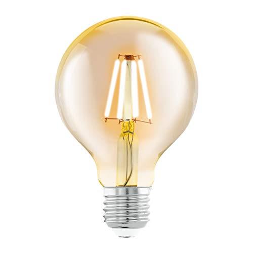 Preisvergleich Produktbild EGLO LED E27 Lampe,  Amber Vintage Glühbirne,  LED Globe für Retro Beleuchtung,  4 Watt (entspricht 30 Watt),  330 Lumen,  E27 LED warmweiß,  2200 Kelvin,  LED Leuchtmittel,  Edison Glühbirne G80,  Ø 8 cm