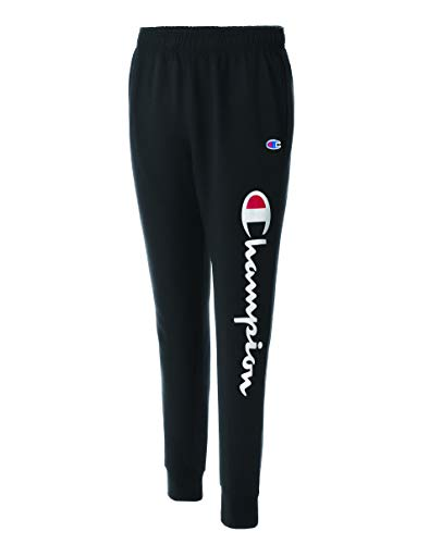 Champion Men's Graphic Powerblend Fleece Jogger, Black, Large