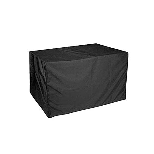 AWSAD Schutzhüllen 420D Heavy Duty Oxford-Polyester Möbelabdeckung Tischdecke Im Freien Terrassen-Set Grill Schwarz Anpassbar (Color : Schwarz, Size : 100x100x160cm)