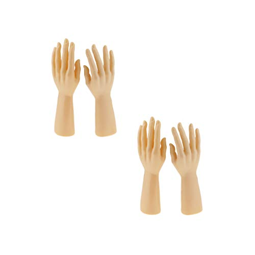 yotijar 2 Pairs of Male Mannequin Hand for Bracelet Bracelet Jewelry Skin Color