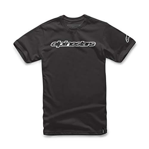 Alpinestars Wordmark tee Camiseta, Hombre, Negro, S