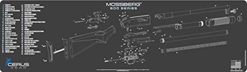 EDOG Mossberg 500 Shotgun Schematic (Exploded View) 14x48 Padded Gun Work Surface Protector Mat