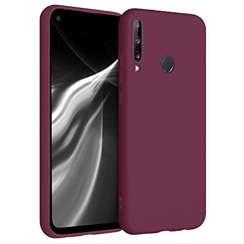 kwmobile Hülle kompatibel mit Huawei P40 Lite E - Hülle Silikon - Soft Handyhülle - Handy Hülle in Bordeaux Violett