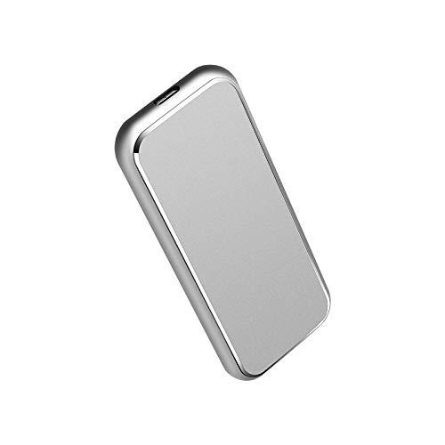 Caja de Disco Duro M.2 NGFF a USB 3.1 Gen 2 Tipo-C SSD Funda HDD Adaptador de Disco Duro USB3.1 Transmisión de Alta Velocidad (Color : Silver)
