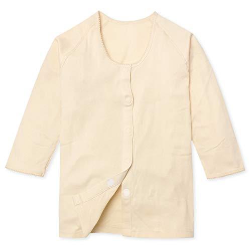 (ベージュ L)婦人 レディース 介護 肌着 七分袖 着脱らくらくマジック式 前開き シャツ 綿100% 抗菌防臭 ラグラン肩 インナー 下着 M L yg-0050 メール便対応