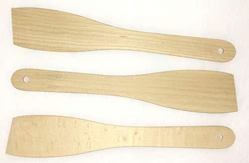 Die schönen Dinge Pfannenwender 3er Set aus Buchenholz umweltfreundliche Bratenwender Backschaufel lebensmittelecht 295 mm EINWEG-verpackt(3)