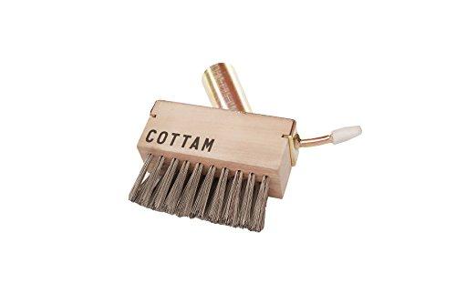 Cottam, attrezzo per spazzola da giardino, filo in acciaio angolare resistente, testa di ricambio attaccabile con staffa e raschietto per rimuovere il muschio dai ciottoli