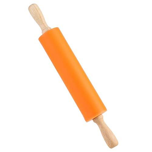 Antiadherente de silicona de amasar mango de madera para hornear barra, barra de madera Palo de amasar, hornear herramienta para hornear los pasteles utensilios para hornear Gadgets de cocina