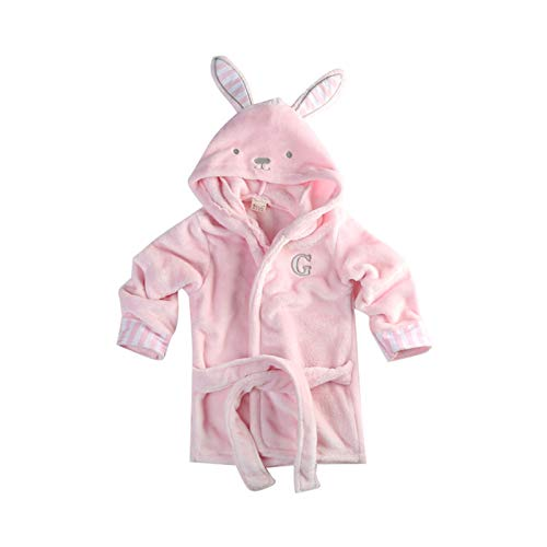 Susanlife LOKKSI - Albornoz unisex con capucha, pijama de franela esponjosa para niños de 1 a 6 años