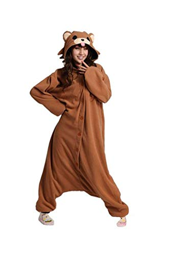 wotogold Tier Kaffee Bär Pyjamas Unisex Erwachsene Cosplay Kostüme Braun