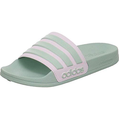 adidas Adilette Shower, womens Slide, Green Tint/Footwear White/Green Tint, 44.5 EU