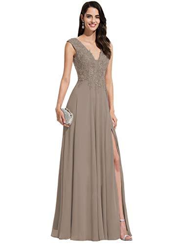 NORAS DRESS V 넥시 폰 댄스 파티 드레스 긴 분할 이브닝 가운 레이스 신부 들러리 드레스 여성 B123