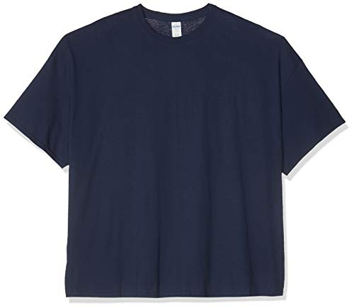 Gildan Heavy Cotton Adult T-Shirt, Blue (Navy), 4XL Uomo