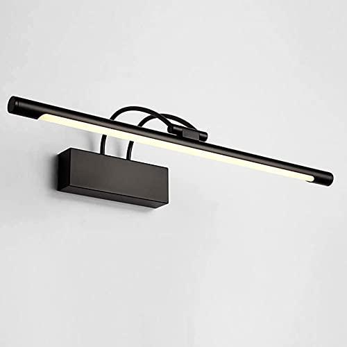 Luz LED de imagen vintage con iluminación frontal, impermeable, antiniebla, 14 W, 6000 K, 1120 lm, 180 grados, luz de tocador, luz blanca y negra, 65 cm (color 45 cm)